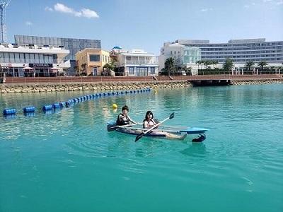 沖縄の海を友達・カップルと遊ぶなら!北谷が便利!