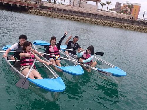 沖縄の海のお勧め海遊び in シーパーク北谷