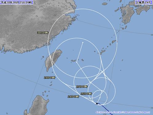 台風24号の影響について