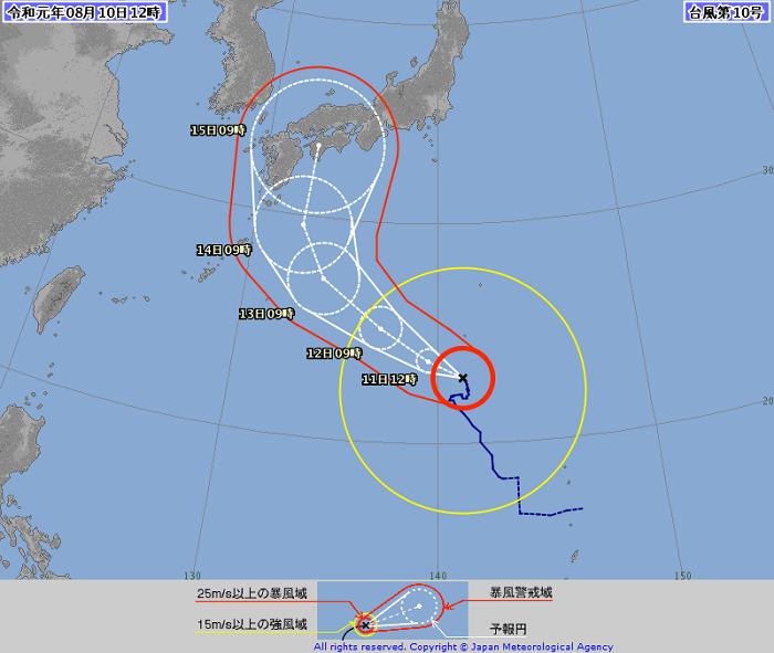 沖縄 台風10号 予報