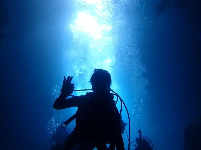 沖縄 青の洞窟 真栄田岬