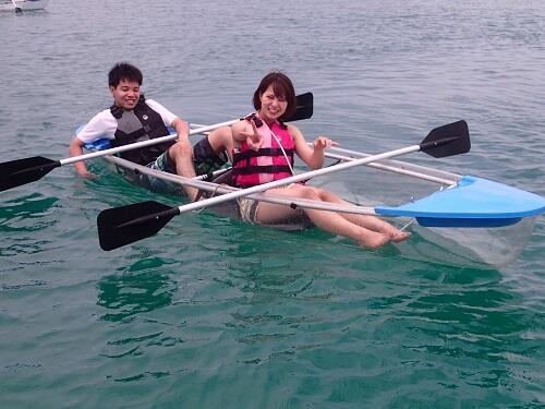 沖縄マリンスポーツ!身体をほぼ濡れないで楽しめる?!『シーパーク北谷』