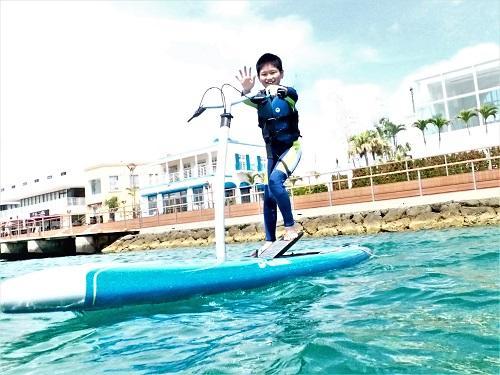 足漕ぎサップ、沖縄北谷、キャンペーン