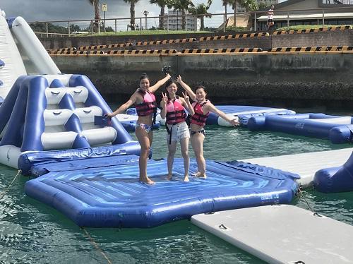 まだまだ夏な沖縄で海遊び