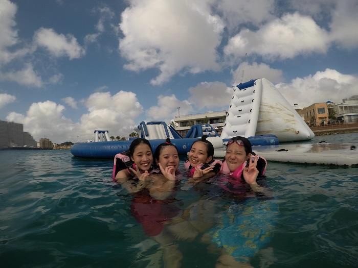 沖縄 海上アスレチック 北谷