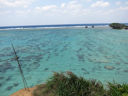 沖縄の海は冬でもきれい