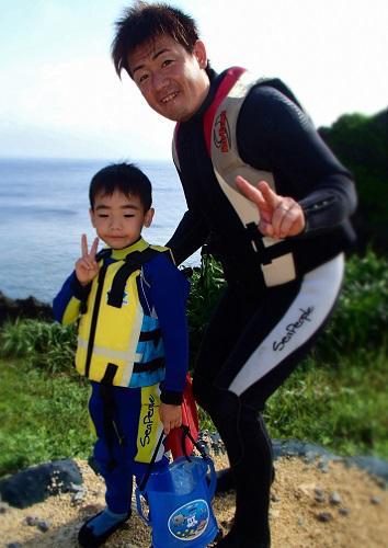 秋でも海遊び!沖縄