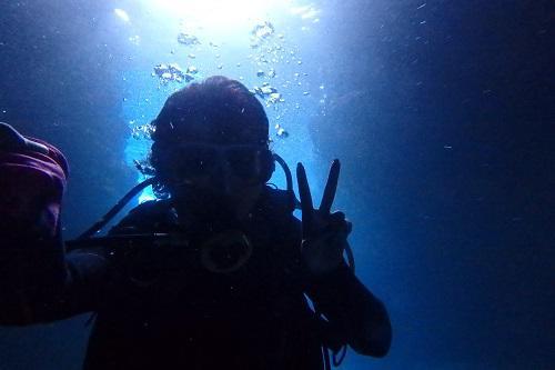 春の海、沖縄ダイビング