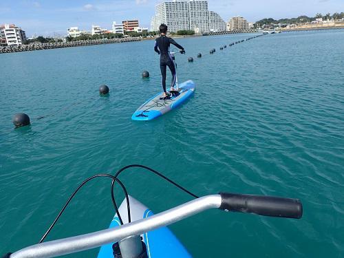 沖縄マリンスポーツ ホビーミラージュエクリプス 足漕ぎSUP