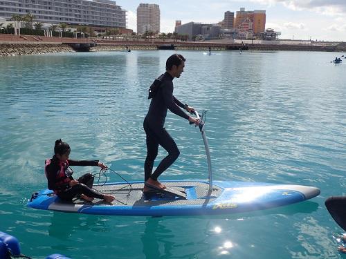 サーフィンみたいな足漕ぎSUPおためし