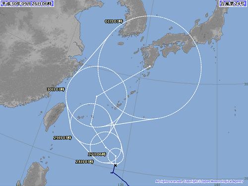 台風対策継続中