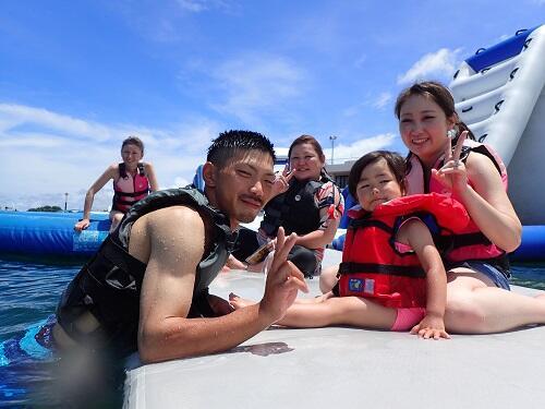 沖縄 海上アスレチック 場所