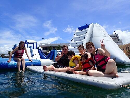 沖縄でクリアカヤック体験★子供と一緒に海遊び♪シーパーク北谷
