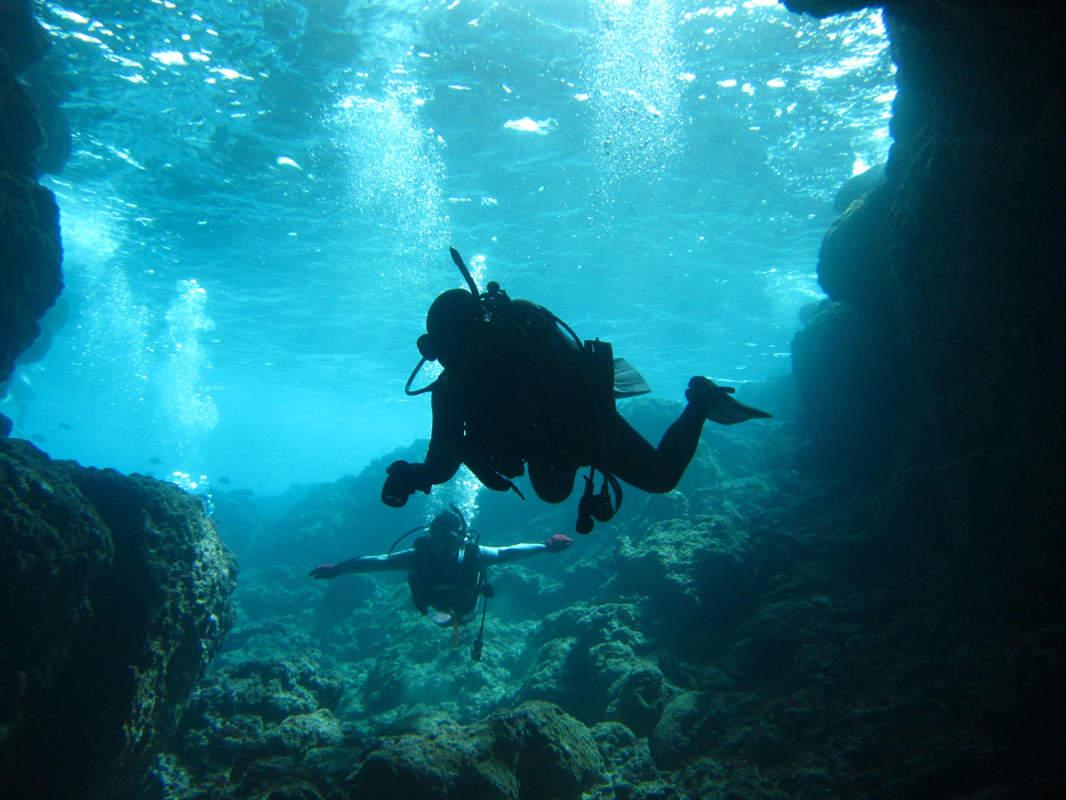 水中でのふわふわ浮遊感はダイバーにしか味わえない体験です